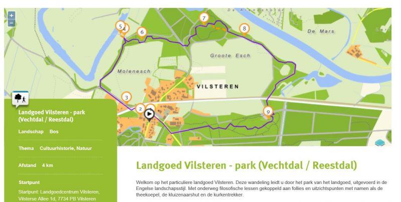 Design Wandlen wandelroutes landgoed vilsteren nu ook digitaal beschikbaar met de